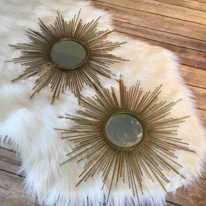 Boho Starburst Mirrors Set of 2